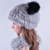 2015 Novas mulheres inverno chapéu gorro feminino real coelho rex cap adorável panda skullies chapéus para a mulher