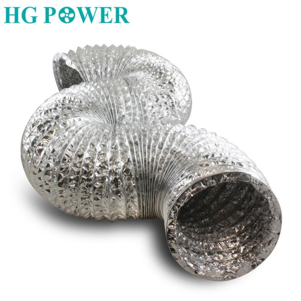 2m 4 6 flexible double aluminum foil ducting hose for duct fan recuperation exhaust ventilator kitchen hood ventilation outlet