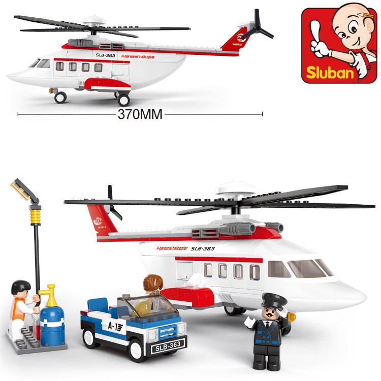 Building Block Sets Compatible with font b lego b font aviation Helicopter 3D Construction Brick Educational