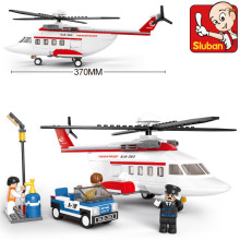 Building Block Sets Compatible with lego aviation Helicopter 3D Construction Brick Educational Hobbies Toys for Kids