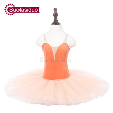 Girls Orange Professional Ballet Tutu Apperal The Nutcracker Performance Competition Ballet Dance Costumes Kids Ballet Skirt недорого