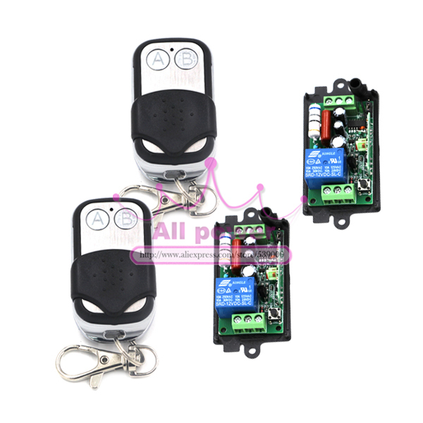 2Receiver&2Transmitter 220V 1CH RF Wireless Remote Switch Light Lamp LED SMD ON OFF Switch Wireless 10A Momenrary Toggle Latched 2pcs receiver transmitters with 2 dual button remote control wireless remote control switch led light lamp remote on off system