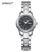 Longbo Luxury Lovers Couple Watches Men Double Date Day Wate