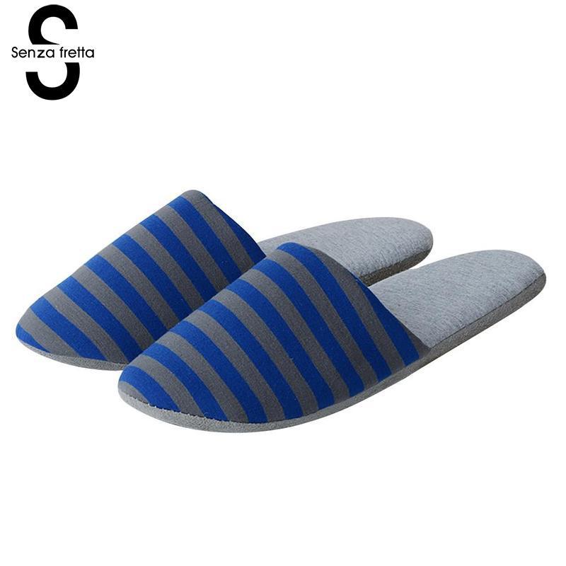 Senza Fretta 2018 Men Portable Folding Slippers Home Business Travel Portable Folding Slippers Loves Men Stripes Slippers 29cm