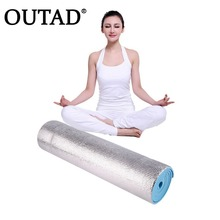 OUTAD Non-Slip 6mm Thick Yoga Mat Body Building Health Lose Weight Exercise Gym Household Cushion Fitness Pad MattressEquipment