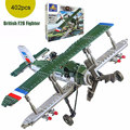 2017 New Classic Military Bristol F2B Royal Air Force Fighter British Fighter Vehicle Building Block Bricks Educational Toy