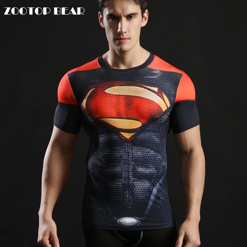 Superhero Top 3D Printed Camiseta Men T shirt 2017 Crossfit Fitness Bodybuild T-shirt Compression High Quality Top ZOOTOP BEAR