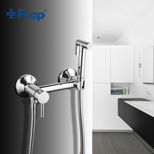 Frap New 1 Set Solid Brass Tube Cold and Hot Water Shower Mixer with Bidet Shower Head Single Handle Tap Crane F7503