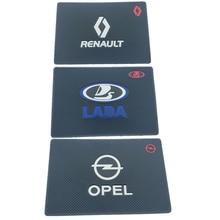 цена на Car Logo Anti Slip Mat GPS Phone Holder Non-Slip Mat Pad For Opel kIa Nissan Mini SKODA Ford dodge Citroen Mazda Car styling