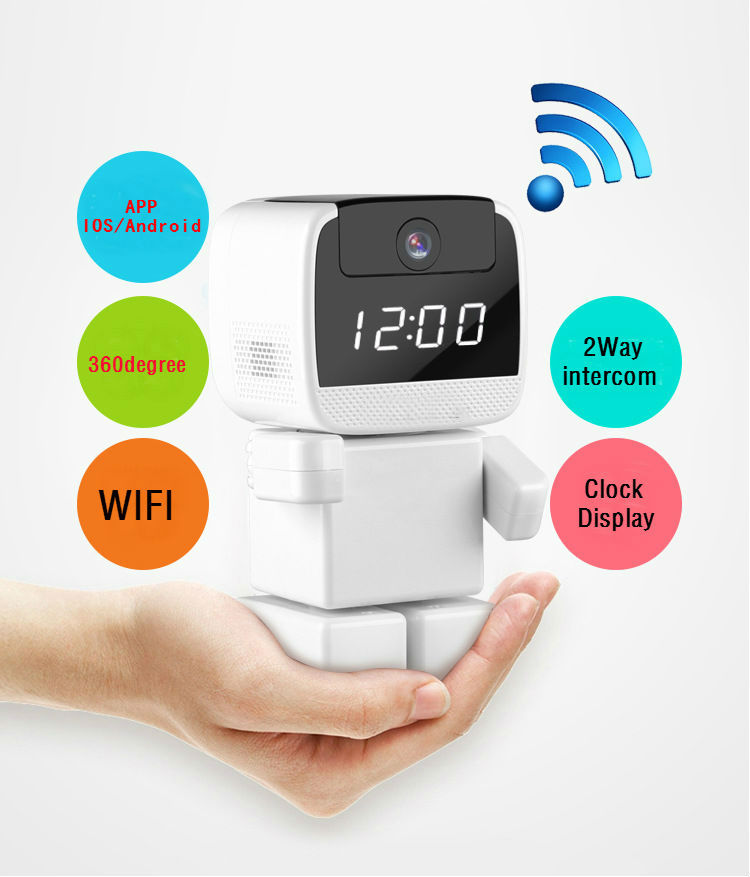 Best buy 960p 360 degree mini robot wifi wireless p2p for Best buy security systems