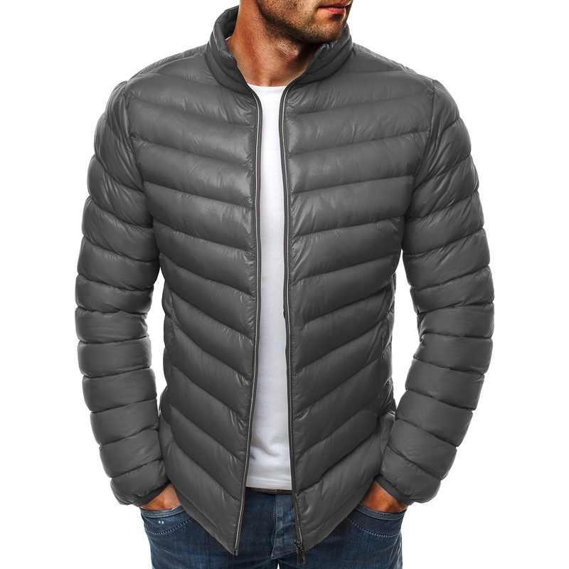 ZOGAA модные для мужчин одежда 2018 тепло хлопковые парки Тренч повседневное молния Slim Fit новый бренд куртка