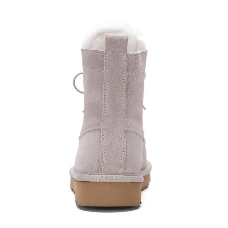 La {zorssar} Invierno Felpa 2018 Planos Para Beige negro Nieve Caliente Botas Pisos De Zapatos Genuino Mujer Nuevos Cuero vH8qpvxSn