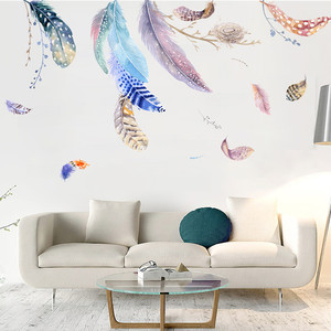 Image 4 - Nordic Ins Wind Wall Stickers Sofa Background Wall Decoration Wall Painting Room Decoration vinilos decorativos para paredes