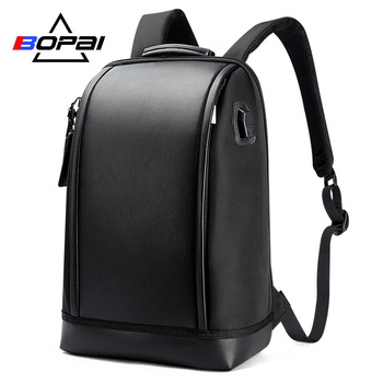 Bopeaiブランドusb外部充電バックパックコンピュータバッグ肩盗難防止バックパック15インチ防水ラップトップバックパック用男性ラップトップバッグ