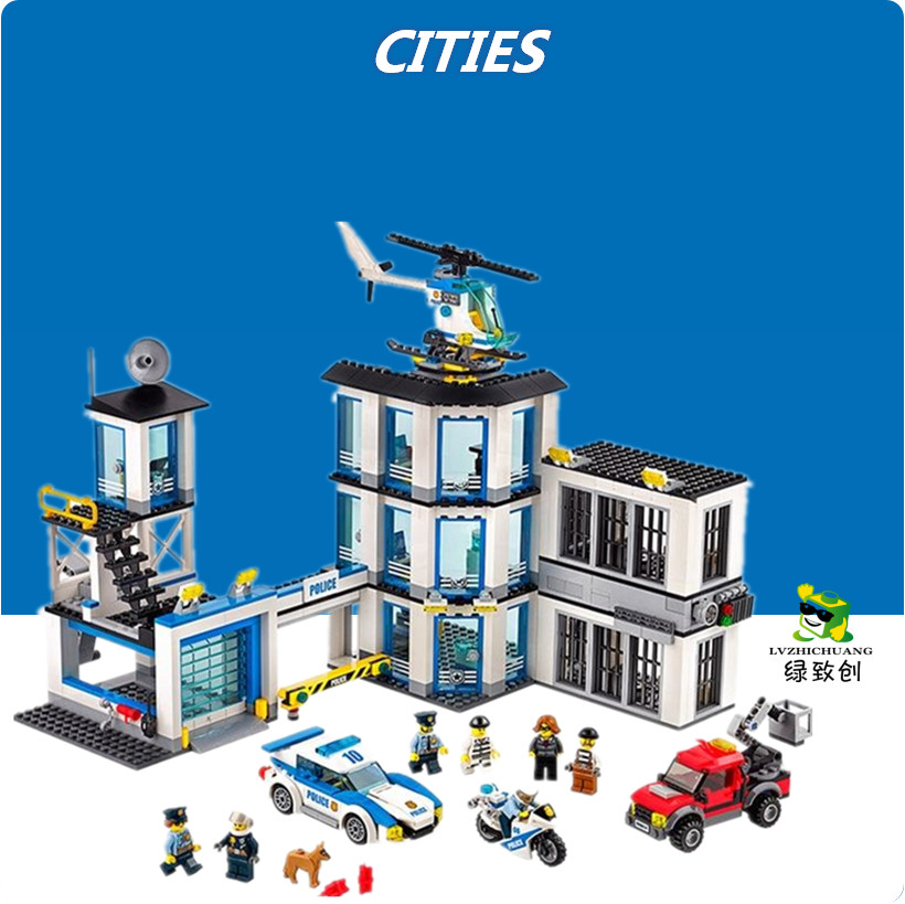 LEPIN 02020 965Pcs City Series The New Police Station Set Children Educational Building Blocks Bricks Toys Model for Gift 60141 lepin 02006 815pcs city police series the prison island set building blocks bricks educational toys for children gift legoings