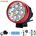 8-T6 LED 15000 lumens Bike lights headlight Mountain lights floodlight The searchlight  battery charger+battery bag