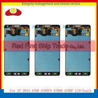 10 шт./лот DHL EMS для Samsung Galaxy A7 2015 A700 A7000 A700F Полный ЖК дисплей сенсорный экран планшета датчик в сборе выполните