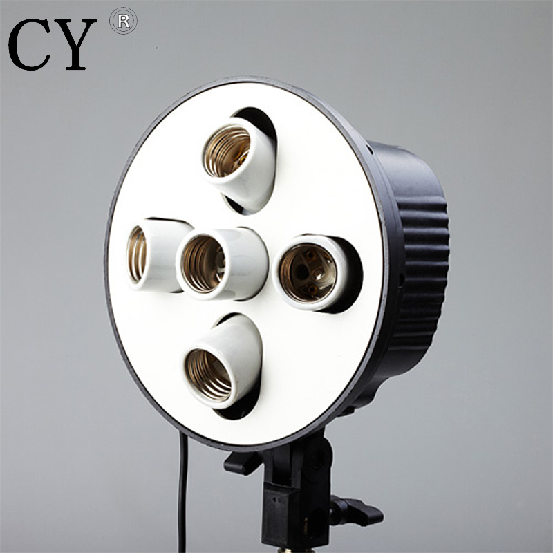 Photo Lamp Bulb Holder 5 x E27 Socket Umbrella Bracket studio continuous light lamp holder PSCSB5H Studio Photography Light
