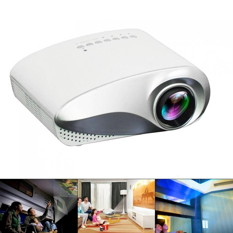 RD802 Universal 200 LM Portable Mini LED Homehold Projector with Built in Loudspeaker Support 100 Inch