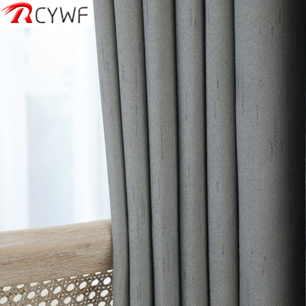 High Shading Linen Blackout Curtains For Living Room Modern Cotton Bedroom Window Curtains Blinds