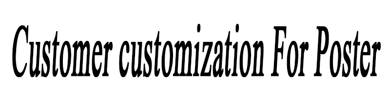 Customer customization For Poster retro nostalgia kraft paper wall sticker vintage poster