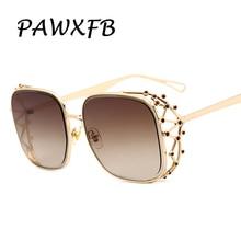 PAWXFB New Italy Brand Designer Oversized Square Sunglasses Women Men High quality Luxury Eyeglasses Lentes de sol