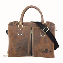 Hot-selling crazy horse leather man bag vintage casual first layer of cowhide handbag one shoulder cross-body computer bag #0201
