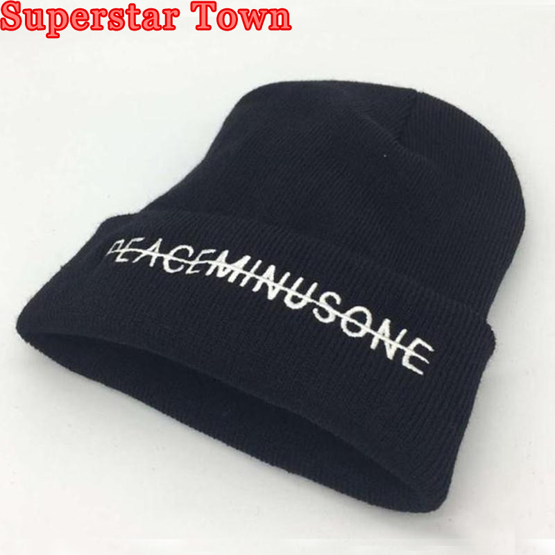 b665f96ed9f44 Kpop GD Embroidery Beanies Hat Bigbang Gdragon Same Paragraph Knitted Caps  Unisex Black Hip Hop Hat