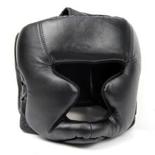 Buen negocio Negro Buena Protección Gear Head Guard Sombrerería Formación Casco Kick Boxing