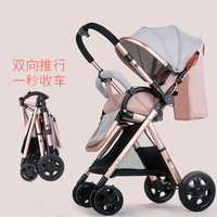 6.8 Kg Light Baby Stroller Aluminum Alloy High Landscape Convertible Push Handle Newbown Baby Carriage Can Sit and Recline