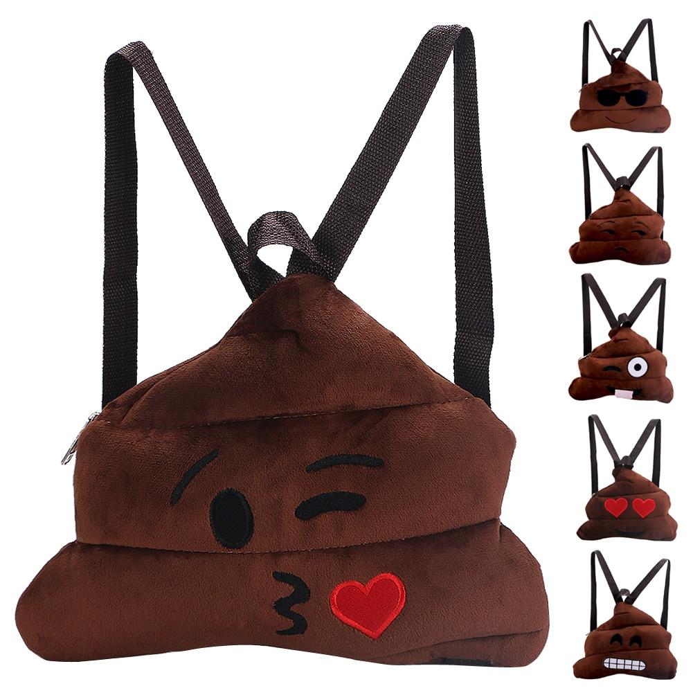 Fashion Vivid Poo Emoji Backpack 3D CharacterTravel Softback boys girls Mochila Harajuku Drawstring Bag Unisex Backpacks