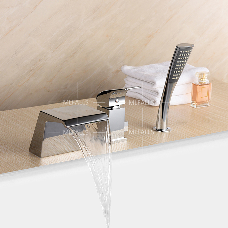 three piece bathroom faucet. Waterfall bathtub faucet copper chrome body suit five holes with three  piece bathroom shower in Shower Faucets from Home Improvement on