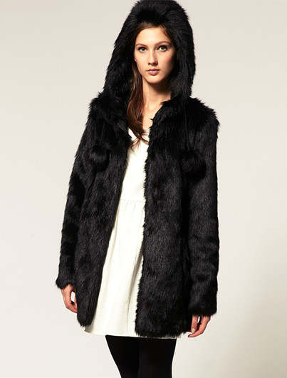 93636e094cb placeholder 2018 Ladies Black And White Faux Fur Coat Plus Size xl xxl 3xl  4xl 5XL Cheap