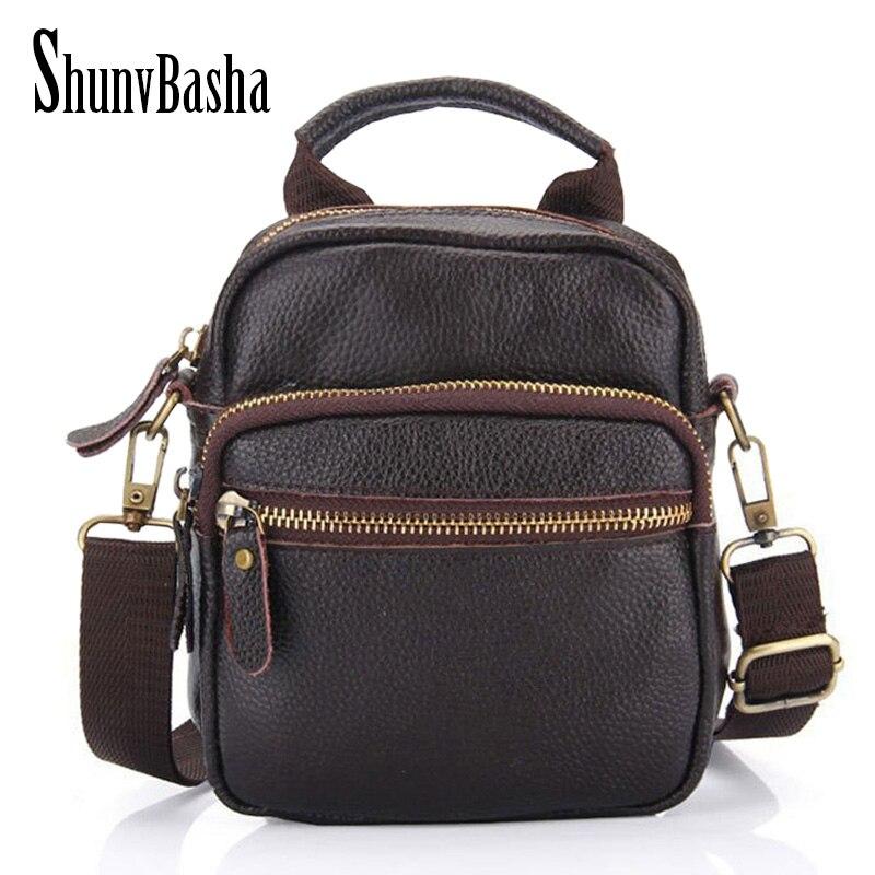 ombro bolsa de lazer homens Bag Tipo : Men's Crossbody Bags Genuine Leather
