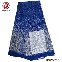 Laatste afrikaanse kant stof charmant glanzend kant hot selling Nigeriaanse kant stof groothandel franse stof voor partij BGW-32