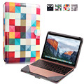 A Cuadros de colores Laptop Sleeve Case Bag para Macbook 12 Pulgadas PU Bolsa de Ordenador Portátil de Protección