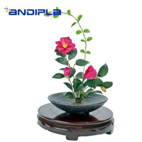 Japanese Style Vintage Flower Pot with Needles Ceramic Vase Table Vases / Flower Arrangement Bonsai Gardening Decoration Crafts