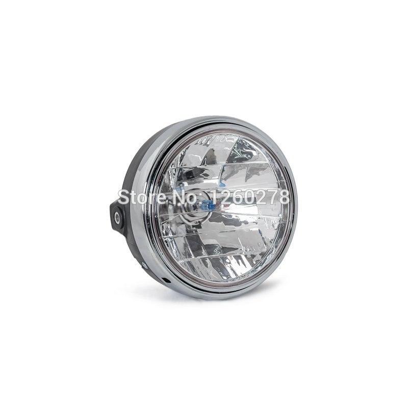 Noir Halogène Lampe de Phare Pour Honda CB250 CB600 CB750 CB900 CB1000 CB400/500/1300 CB1100SFVTR250 Hornet 250/ 600/900 NT400 600