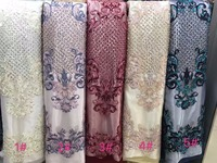 Latest African French Lace Fabric JRB 91207 High Quality beaded African Tulle Lace Fabric