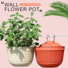 Креативный имитация ротанг плетение садовый горшок для двора настенный для декоративный цветок для дома корзинки для растений садовый питомник