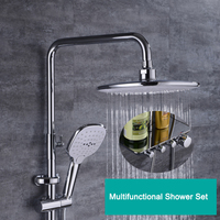 1SET Bathroom Fixture Sets Faucets Set Bath Shower Tap Bathroom Shower Set Bathtub Faucet Waterfall Rain Shower Head