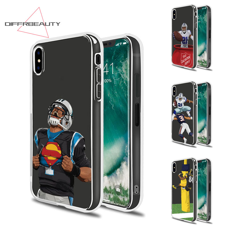 DIFFRBEAUTY Sports Figure Soccer Rugby Blue Jays Pirate Tampa Bay Mobile Case for iPhone X 8 7 6s Plus 5 se Soft Cove Fundas