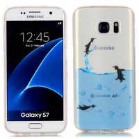 Für Samsung S 7 G930f Silikon Fall Farbige Transparent TPU Weiche Rückseite Fall für Samsung Galaxy S7 G930 G930a G930fd G9300