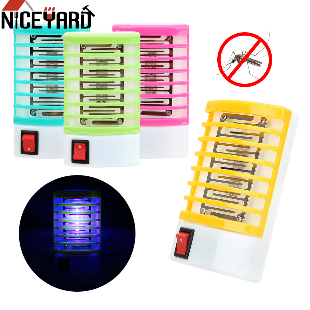 NICEYARD US/EU Plug Electric Mosquito Fly Bug Insect Trap Killer LED Socket Novelty Lighting Mosquito Killer Lamps