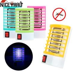 NICEYARD US/ue wtyczka elektryczna pułapka na muchy na owady zabójca LED gniazdo nietypowe oświetlenie urządzenie przeciw komarom lampy w Pułapki od Dom i ogród na