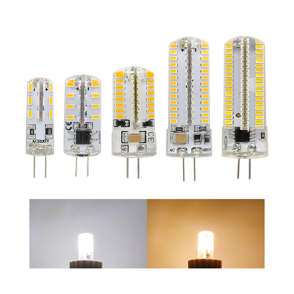 3014SMD G4 LED Light 12V DC/AC 110V 220V 1W 2W 3W 5W LED Bulb 24 <font><b>48</b></font> 64 104 152LEDs <font><b>360</b></font> Beam Angle SpotLight Crystal LED Lamp image
