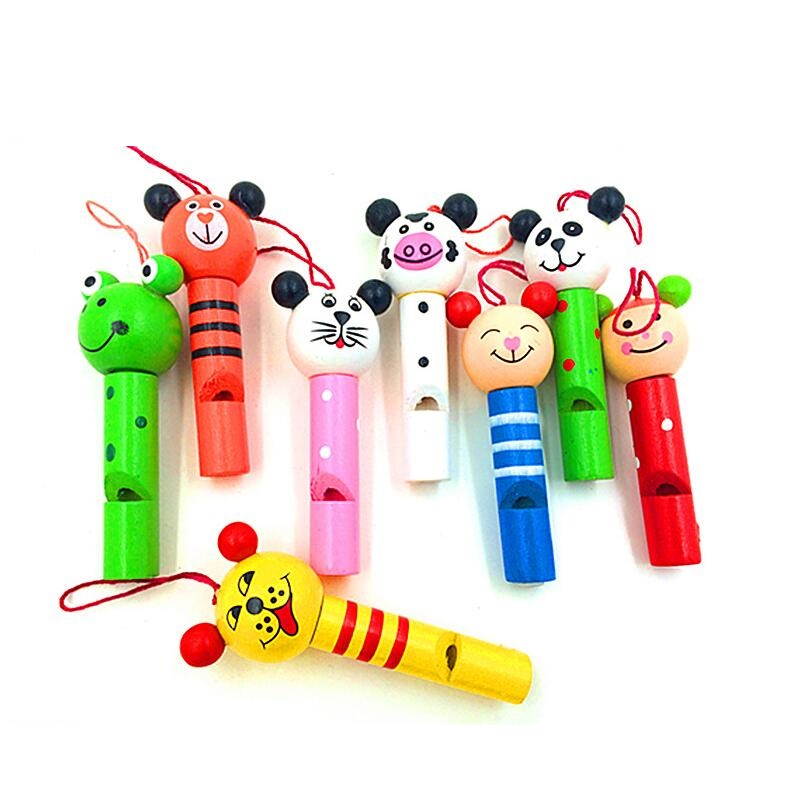 Fly AC lovely wooden small animal whistle key toy for children birthday gift 20pcs/setFly AC lovely wooden small animal whistle key toy for children birthday gift 20pcs/set