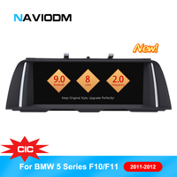 Naviodm android 9.0 car dvd player Car Multimedia Player cars audio For BMW 5 Series/F10/F11/520 CIC 2010 2012 GPS radio aux BT