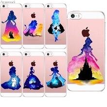 Arsmundi 2018 Новая мода акварель принцесса для iPhone 5C 5S 6 6 S 7 8 Plus X для OPPO случае crystal Clear Мягкие TPU крышка Чехол