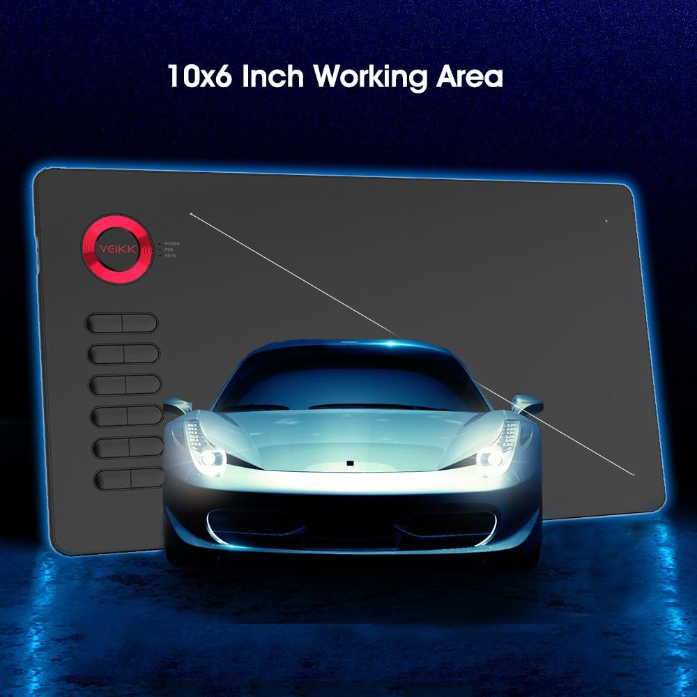 Image 3 - Графический планшет VEIKK A15, 10x6 дюймов, цифровой Коврик для  рисования для художников, 8192 уровней давления с перчаткой бесплатно-in  Цифровой планшеты from Компьютеры и офисная техника on AliExpress